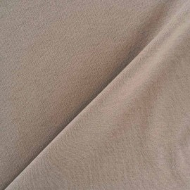 Plain jersey fabric - havana x 10cm