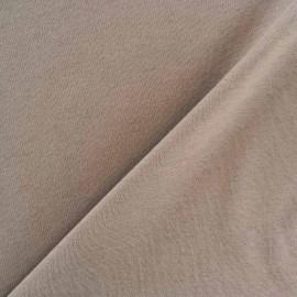 Tissu Jersey uni 100% coton - havane x 10cm