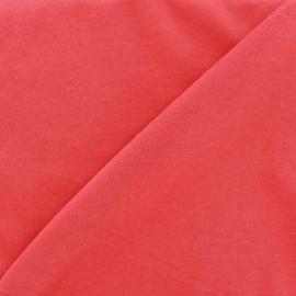 Tissu Jersey uni 100% coton - rose bonbon x 10cm