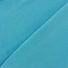 Plain jersey fabric - blue azure x 10cm