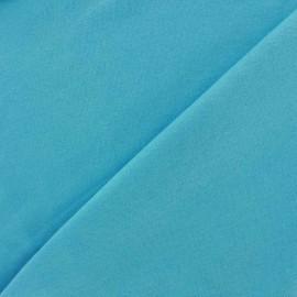 Tissu Jersey uni 100% coton - bleu azur x 10cm