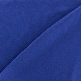 Tissu Jersey uni 100% coton - bleu roi x 10cm