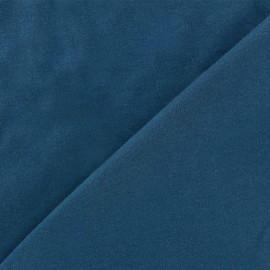 Plain jersey fabric - blue oil x 10cm