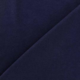 Tissu Jersey uni 100% coton - bleu marine x 10cm