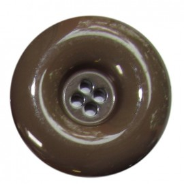 Polyester button, varnished - raw umber