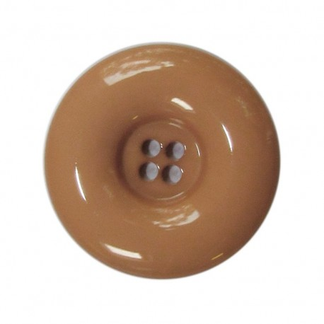 Polyester button, lacquered - beige