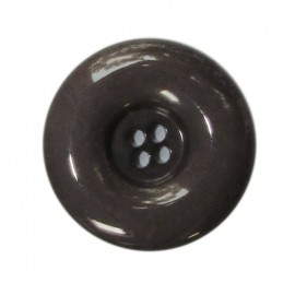 Bouton polyester laqué anthracite