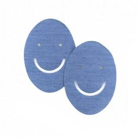 Coudières denim ajouré - smile (la paire)