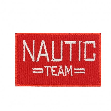 Canvas Iron on patch  Nautic - team red