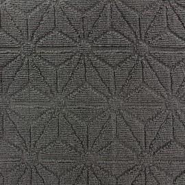 Tissu éponge jacquard Bento - anthracite x 25cm