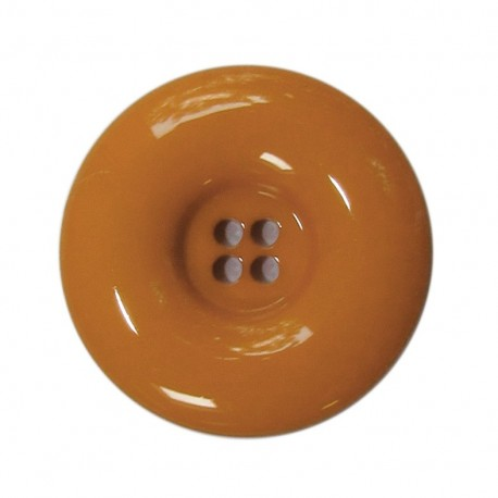 Polyester button, lacquered - pumpkin