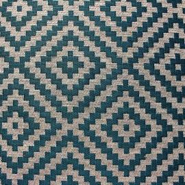 Tissu Vannerie losange - canard x 13cm