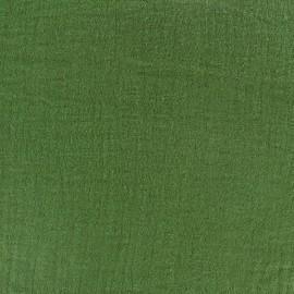 Tissu double gaze de coton - cactus x 10cm
