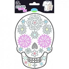 Stickers textiles - Tête de mort