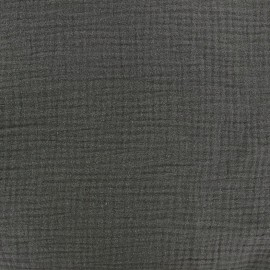 Tissu Oeko-Tex double gaze de coton Grigri Oeko-tex Camillette création x 10cm