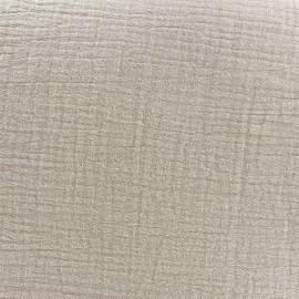 Double gauze fabric - beach x 10cm