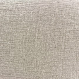 Tissu double gaze de coton - beach x 10cm