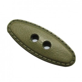 Small log button 50 mm - khaki