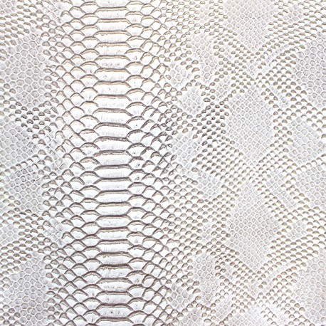 Simili cuir Comodo - blanc argenté x 10cm