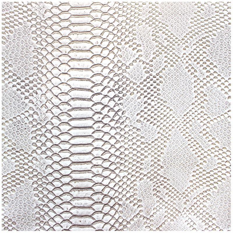 Simili cuir comodo blanc argent x 10cm - Tissu simili cuir blanc ...
