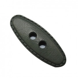 Small log button 50 mm - blueish grey
