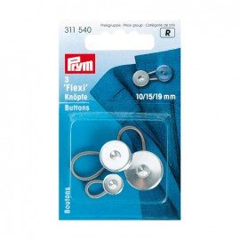 Boutons Flexi 10,15,19 mm