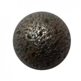 Bouton métal demi-boule nickel noir