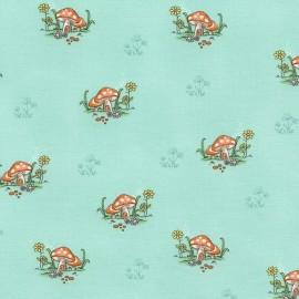 Fabric Timeless Treasures Kids Mushrooms - mint x 10cm