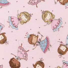 Tissu Timeless Treasures Kids Glitter Princesses - pink x 30cm