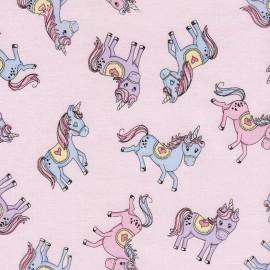 Tissu Timeless Treasures Kids Glitter Unicorns - pink x 20cm