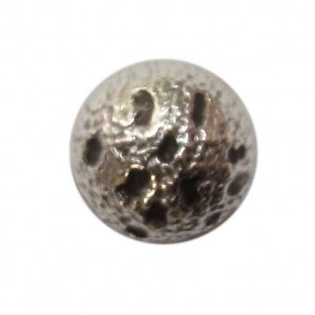 Bouton métal demi-boule nickelé
