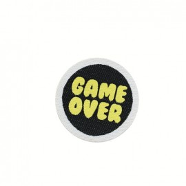 Fun iron on patch - game over