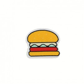 Fun iron on patch - burger