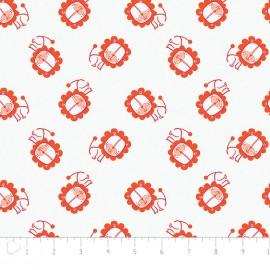 Tissu Camelot Fabrics Jungly lion - white x 20cm