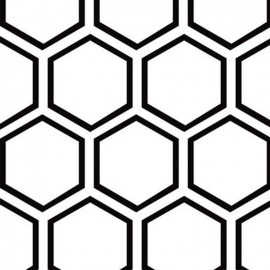 Tissu Camelot Fabrics Opposites Attract honeycomb - white x 10cm