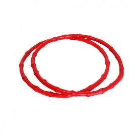 Anses de sac en Bambou rondes - rouge
