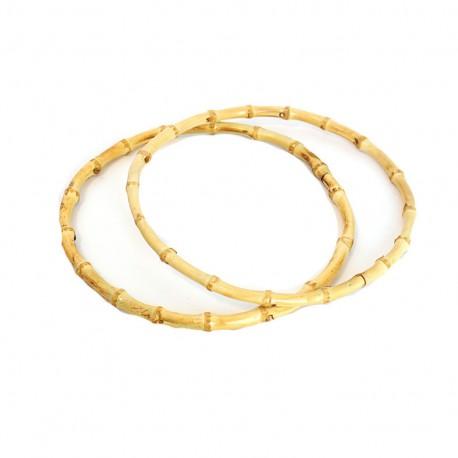Bamboo round bag-handles - natural