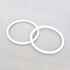 Circle-shaped bag handles - white