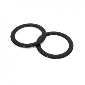 Anses de sac cercle plat - noir