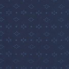 Tissu Hoffman fabrics Pinjay - indigo x 10cm