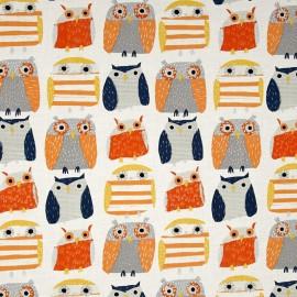 Fabric Dear Stella Owl - multi  x 30cm