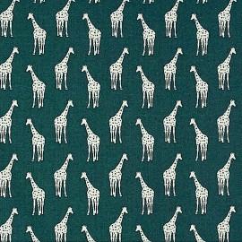 Tissu Dear Stella Giraffes - slate  x 10cm