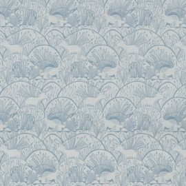 Fabric Dear Stella Woodland etching - grey  x 10cm