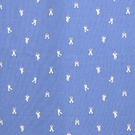 Fabric Dear Stella Dancing Sailor - blue x 10cm