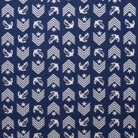 Fabric Dear Stella Drop Anchor - navy x 10cm