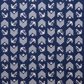 Tissu Dear Stella Drop Anchor - navy x 10cm