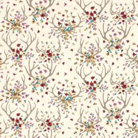 Tissu Dear Stella Antlers - cream x 10cm