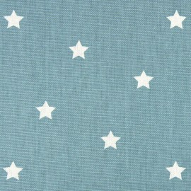 Varnished and coated cotton fabric Twinkle - porcelain  x 10cm