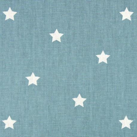 Tissu coton enduit vernis Twinkle - porcelaine x 10cm