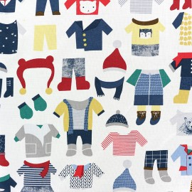 Fabric Dear Stella Winter wear - multi  x 31cm